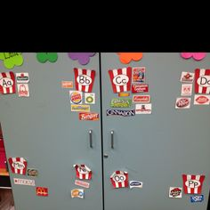 Environmental print word wall in my classroom. The kiddos love using it but I highly recommend laminating all pieces before hanging them up.