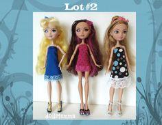 Ooit na hoge Doll Clothes - veel van 3 JURKEN handgemaakte mode - door dolls4emma