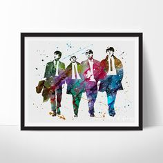 The Beatles Watercolor Art - VIVIDEDITIONS