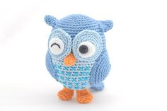 """Get this free pattern at www.amigurumi-haken.be Jip the owl..so cute !!"" #crotchet #animals #toys #crotchetanimals Crotchet Animals Must make!"