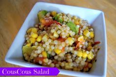 CousCous salad featuring avocados and plenty of veggies.  Healthy, quick to make, and delicious!