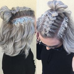 Since everyone loved this braid and glitter I did for @jillayneleblanc I am going to offer this style for New Years Eve for only $25! This includes braiding, curls and glitter to bring in the new year!! Add a wash and blowout for $20! Fabulous color & cut by my talented stylist @_anthonyslays text to book (we open Tuesday @ 10 - 978-880-2793) #northshore #boston #kuene #behindthechair #imallaboutdahair #collaboration #dollhousewakefield #hairporn #fuckinghair