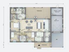 Viklo - Lammi Kivitalo Bungalows, Beach House, House Plans, Buildings, Lego, House Ideas, Floor Plans, Exterior, Flooring