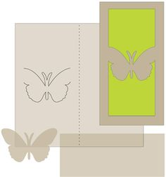 money holder card - butterfly--------------------------I think I'm in love with this shape from the Silhouette Online Store!