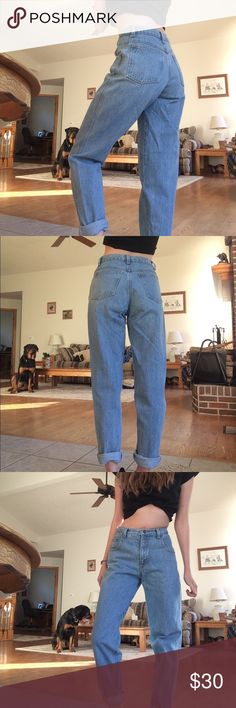 "The PERFECT Vintage Mom Jeans These are the mom jeans you've been searching for. This is it. Quest over. These are just perfect in every single way tbh. Brand is Zena ,size 16??? But no. The waist measures 26"" , hips are 38"" , and inseam is 30"" . Listen here- these look so good cuffed. I'm 5'8 and they're a little short so I ankle cuffed them- just yes. Already super tapered  leg, but it's just even better that way. If I didn't have the hips of a 12 year old boy, I'd be keeping these…"