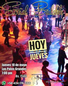@rumbacana #HOY #JUEVES 18 DE MAYO #SocialBailable Los Palos Grandes 7:00 pm a 8:30 pm Invita un amigo al #SanoVicioDeBailar  Ven y #BailaParaDivertirte #Bachata #Kizomba #Merengue #Salsa #SalsaCasino #Baile #Bailar #Academia #Stress #Relax #Salud #Diversion #Feliz #Felicidad #Spa #Dance - #regrann