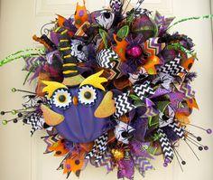 Deluxe Halloween Black Green Orange and Purple by NicoleDCreations