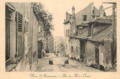 La rue du Mont-Cenis vers 1900. Le Vieux-Montmartre...