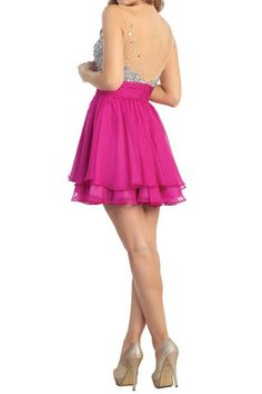 74bd539047d44 Stunning Soiree Party Dress in Magenta CrownTheShop.com Watch Your Back