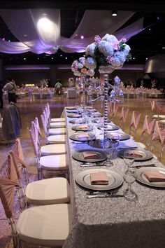 Ashley Quinceanera - Family table set up at Cendera Center