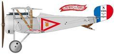"""Nieuport 17 Armand de Turenne avec la devise """"Ferme et Fort"""""""