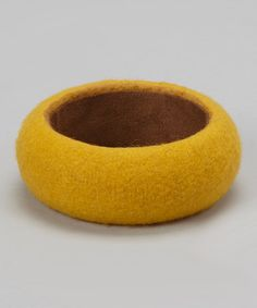 Take a look at this Mustard Felt Bangle by Shop the Look Plus: Fall Festivities on @zulily today!