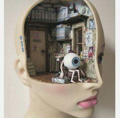 Visual Process 1 By Surge Jupin Mixed media sculpture