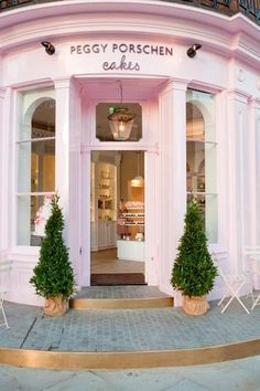 My store would be red :) I got that idea from this pink exterior color which welcomes customers into this bakery