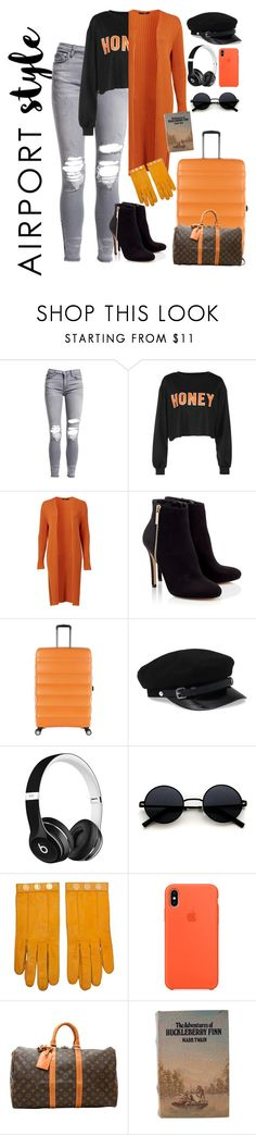 """please!"" by mamatee1917 ❤ liked on Polyvore featuring AMIRI, Lipsy, Antler, Beats by Dr. Dre, Hermès, Louis Vuitton and airportstyle"