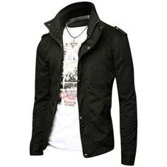 Jeansian Men's Fashion Jacket Outerwear Tops Blazer
