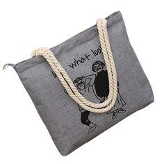 06c29bdebafcd Women Canvas Handbag Printed Shoulder Handbag Female Large Capacity Ladies  Beach Bag Women Canvas Tote