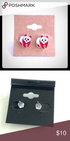 Red panda stud earrings-NEW! Red panda stud earrings-NEW! These are nickel free and lead free. They will be on a black card as shown in 2nd photo- also in a clear package. Boutique Jewelry Earrings