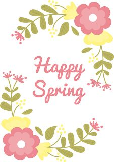 Happy Spring! (with free printables)