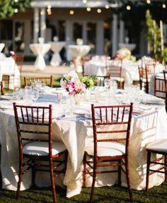 ROMANTIQUE WEDDING RECEPTION DECORATIONS | Outdoor garden wedding reception | Weddings Romantique