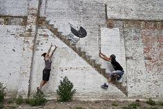 Banksy in Chicago on Randolph Street