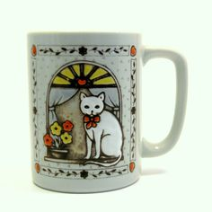 Vintage 1960s Country Cat Coffee Cup, $14 from BlissAndVinegar Vintage on Etsy