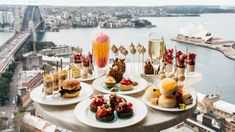 High Tea in the Sky at Shangri-La Hotel, Sydney · Milk Tea Recipes, Best Coffee Maker, Shangri La Hotel, Easter Brunch, Cocktails, Dessert Bars, Lemon Grass, High Tea, Fine Dining