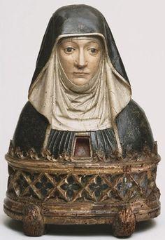 Reliquary Bust of a Benedictine Nun possibly Saint Scholastica 1500. Philadelphia Museum of Arts