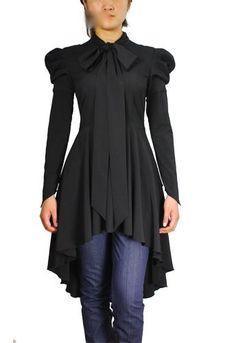 Gothic Victorian Steampunk Vintage Gypsy Black Top Blouse Dress | eBay