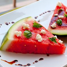 kickin watermelon salad - sweet heat that will leave your tongue tingling. a beautiful and different appetizer that will impress your guests! | the improv kitchen