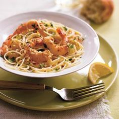 Garlic Shrimp with Angel Hair Pasta