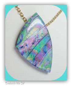 Read my latest Blog post about my scrap Faux Dichroic pendants handmade polymer clay jewelry