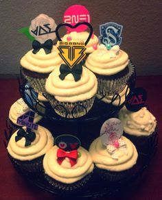KPop Cupcakes for Ottoke Korean Shop, that were sold at the KPop Convention at Ponce.
