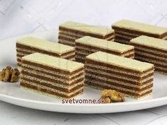 A recipe for fantastic caramel nut Grilážky that has been tested for years. Party Desserts, Mini Desserts, Cookie Desserts, Christmas Desserts, Christmas Baking, No Bake Desserts, Dessert Recipes, Chocolate Apples, Chocolate Desserts