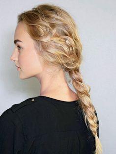 Hair Inspiration: Alberta Ferretti spring 2014 rumpled braid. Here's how to get it. | allure.com