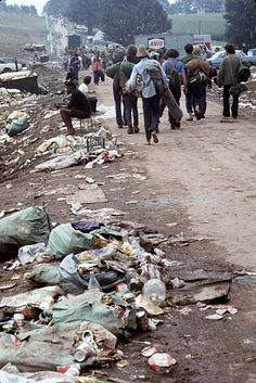 Woodstock, 1969. Damn! Look at the trash those hippies left behind.