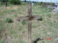 Spanish cross in Penasco, New Mexico.