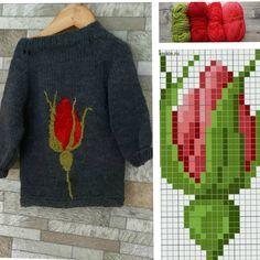 Вот и закончила. #сама #роза #краскилета #лето #вязание #вышивание #вязаниедетям #вяжусама #вязаныйсвитер #вязаниеспицамиташкент… Baby Sweater Knitting Pattern, Knitting Charts, Sweater Knitting Patterns, Knitting Stitches, Knitting Designs, Knit Patterns, Baby Knitting, Hand Embroidery Videos, Diy Embroidery