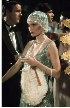 Mia Farrow as Daisy Buchanan in The Great Gatsby as seen in The New York Times Style Magazine The Great Gatsby, Great Gatsby Fashion, 1920s Fashion Gatsby, Roaring 20s Fashion, 1920s Fashion Dresses, Flapper Fashion, 1920s Outfits, Roaring Twenties, 1920 Style