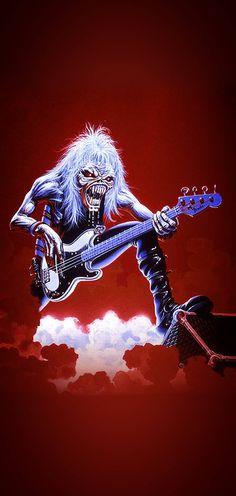 Heavy Metal Art, Nu Metal, Heavy Metal Bands, Pet Shop Boys, Iron Maiden Posters, Eddie The Head, Iron Maiden Band, Rock Band Posters, Bon Scott