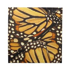 Monarch Butterfly Abstract Printed Napkin