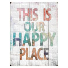 Wood wall decor with a text motif. Product: Wall decorConstruction Material: WoodFeatures: Read...