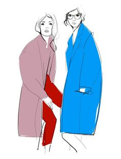 Early Winter illustration from fashion illustrator and photographer Ganance Dore