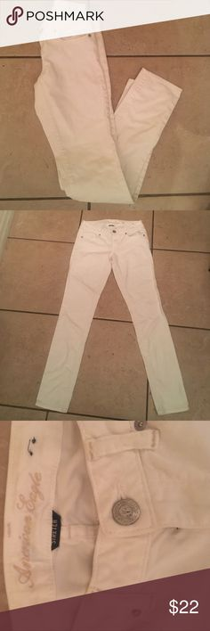 American eagle white stretch skinny jeans 0 Cute white American  eagle jeans sz 0 american eagle Jeans Skinny
