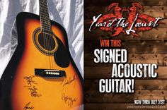 """If you like hard rock you need to check out our buddy and cohost Pete Hellers' band Year of the Locust! To celebrate the release of their new music video """"Rise Up"""" Year of the Locust is giving away a signed acoustic guitar! Share their brand new video for """"Rise Up"""" on Facebook to be INSTANTLY entered to win a signed acoustic guitar! Be sure to hashtag your post #yotlcontest2016. That's it! You need only share once to enter. Multiple shares do not increase your chances of winning. Contest…"""
