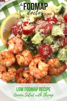 NEW RECIPE: Low FODMAP Quinoa Salad with Shrimp! Shrimp And Quinoa, Shrimp Salad, Quinoa Rice, Nclex, New Recipes, Healthy Recipes, Healthy Food, Recipies, Simple Recipes