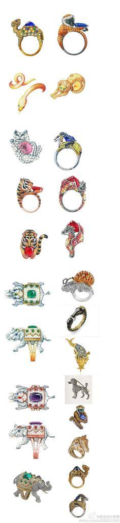 手绘 动物珠宝 #手绘设计# #珠宝设计