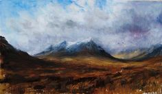 Jonathan Shearer - Buachaille etive mor - oil on canvas Contemporary Artists, Online Art, Les Oeuvres, Landscape Paintings, Countryside, Oil On Canvas, Drawings, Nature, Artwork