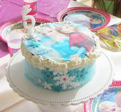 Anniversaire Reine des Neiges gâteau