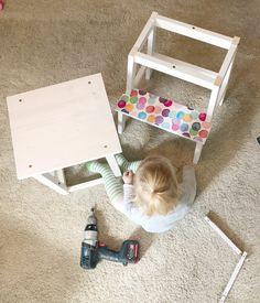- DIY ~ Lernturm für Kleinkinder - Ikea Kids, Girl Room, Baby Room, Baby Staff, Learning Tower, Decoration, Montessori, Toddler Bed, Nursery